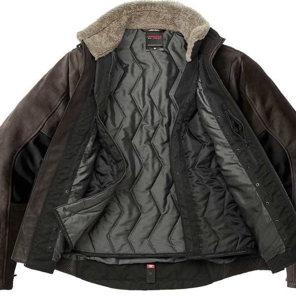 Spidi GB Firebird Leather Jacket-Brown