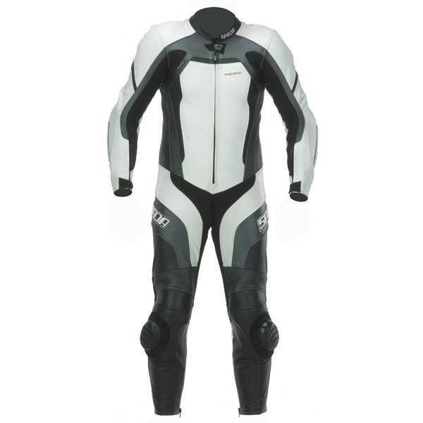 Spada Predator 1 piece Leather Suit - White/Black