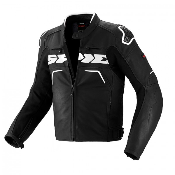 Spidi Evo Rider Leather Jacket-Black/White