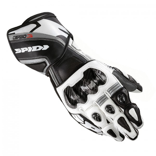 Spidi Carbo 3 Leather Gloves-Black/White