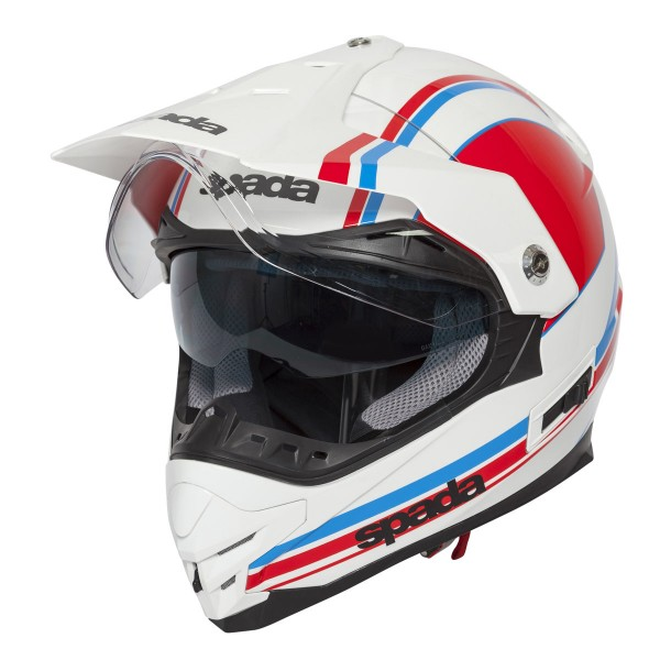 Spada Intrepid Delta Helmet - White/Red/Blue