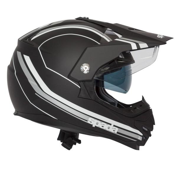 Spada Intrepid Delta Helmet - Black/White