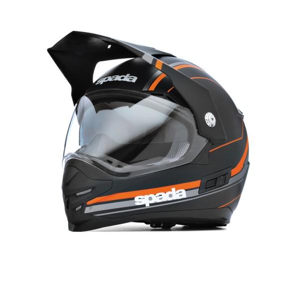 Spada Intrepid Delta Helmet - Black/Orange
