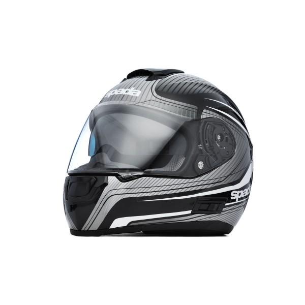 Spada SP16 Monarch Helmet - Black/Silver/White