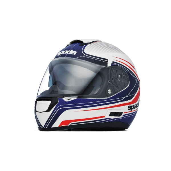 Spada SP16 Monarch Helmet - White/Red/Blue