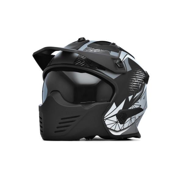 Spada Helmet Storm Matt Black/Grey/Silver