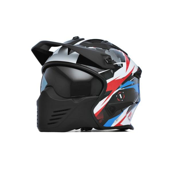 Spada Storm Helmet - Gloss Wht/Red/Blue
