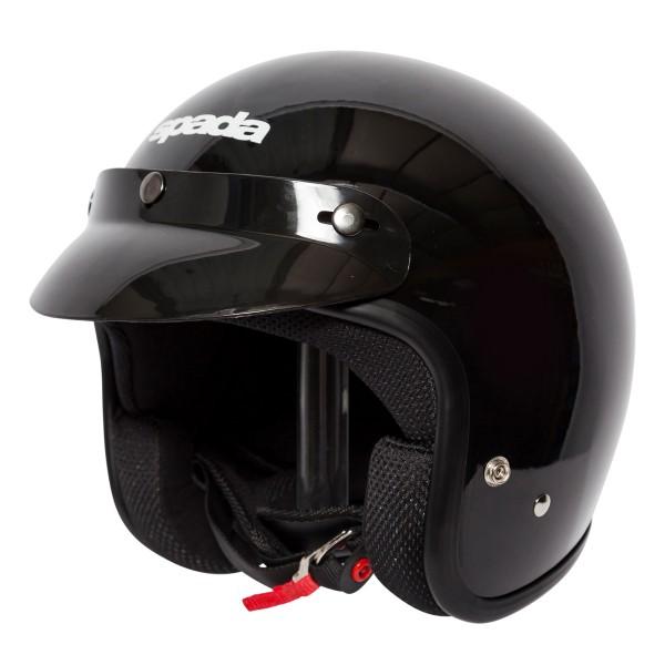 Spada Helmet Open Face Classic Plain Gloss Black