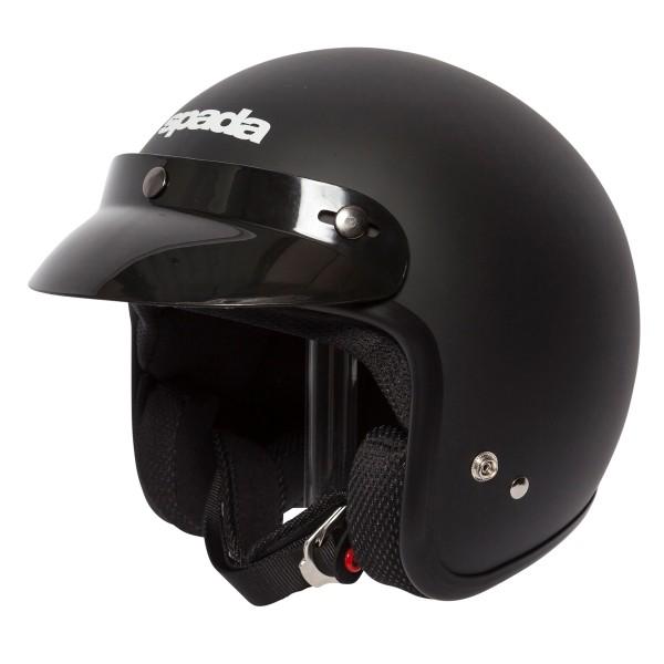 Spada Helmet Open Face Classic Plain Matt Black