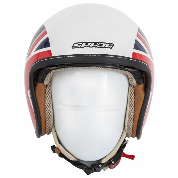 Spada Helmet Raze Empire White/Red/Blue