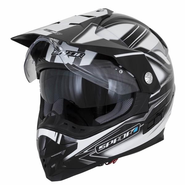 Spada Intrepid Mirage Helmet - White/Grey/Black