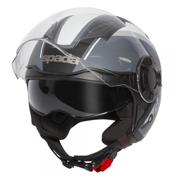 Spada Lycan Helmet - Strobe Matt Black/White