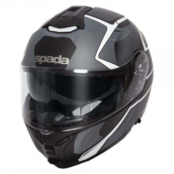 Spada Orion Helmet - Slate Matt Black/White/Silver