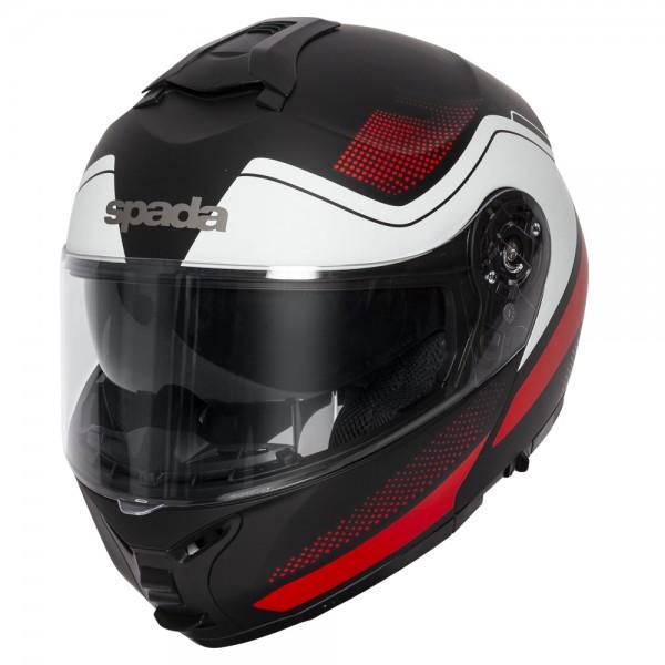 Spada Orion Helmet - Pixel Matt Black/Red/White