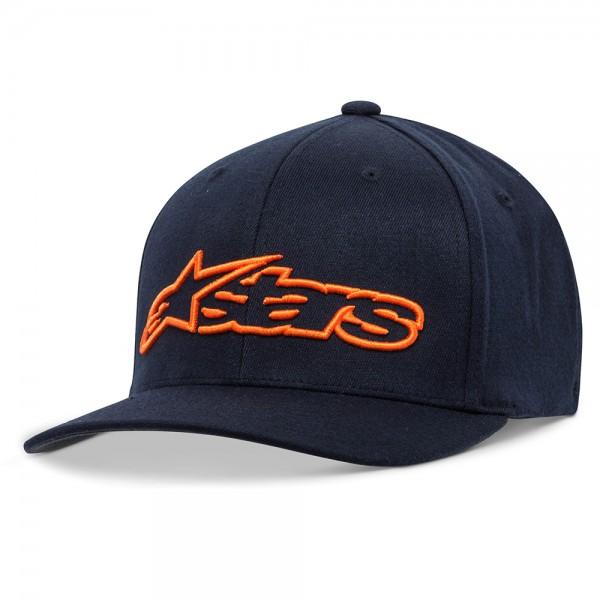 Alpinestars Blaze Flexfit Hat - Navy & Orange