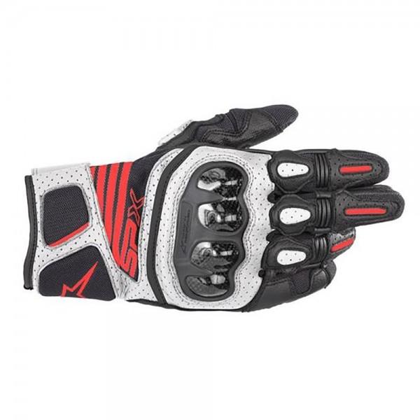 Alpinestars Carbon v2 Gloves - Black/White/Red