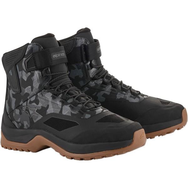 Alpinestars Cr-6 Drystar Riding Shoe - Black/Grey/Camo/Gum