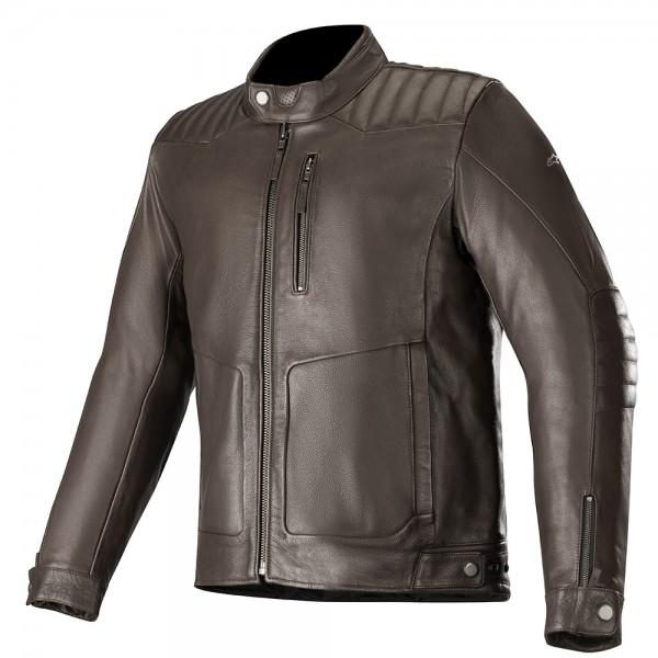 Alpinestars Crazy Eight Leather Jacket - Tobacco Brown