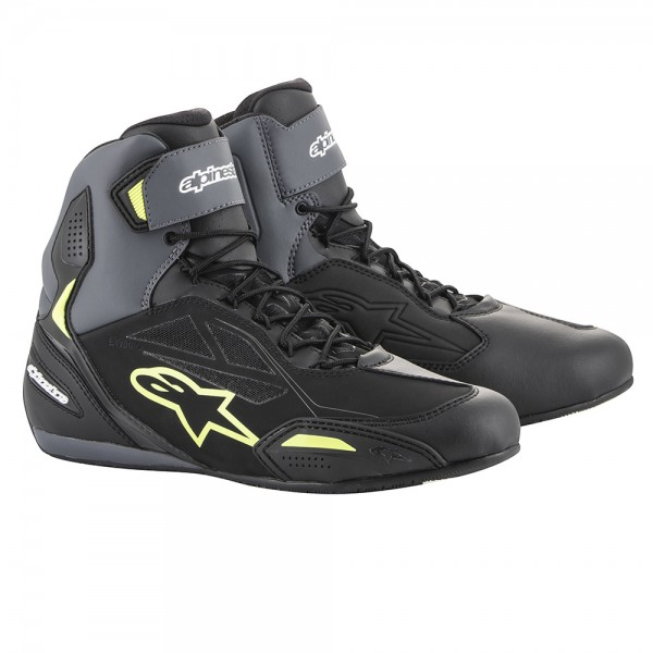 Alpinestars Faster 3 Drystar Shoes Black Grey & Yellow Fluo