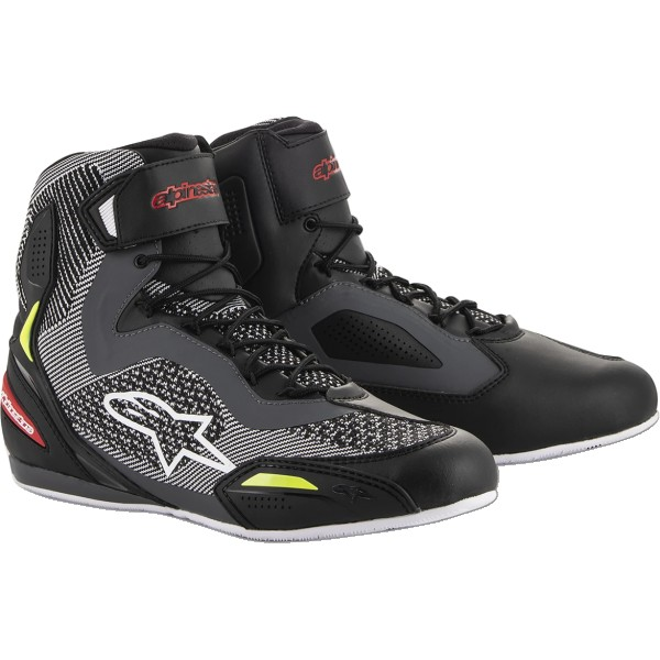 Alpinestars Faster 3 Rideknit Shoes Blk/Gry/Red/Fluo