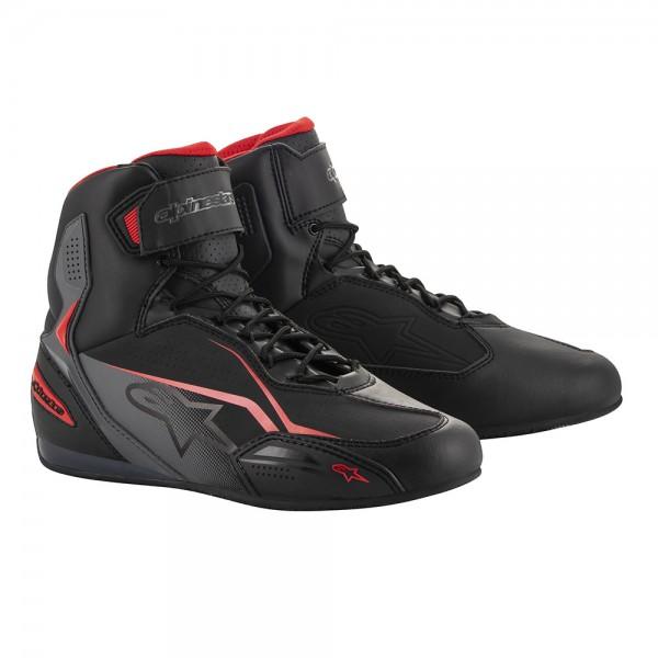 Alpinestars Faster 3 Shoes - Black/Grey/Red