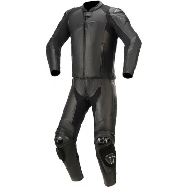 Alpinestars GP Plus v3 Graphite Leather 2 Pc Blk