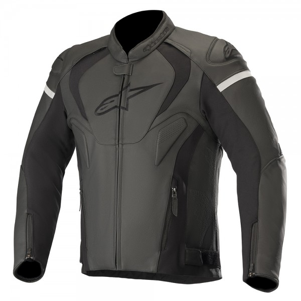 Alpinestars Jaws v3 Leather Jacket - Black/Black