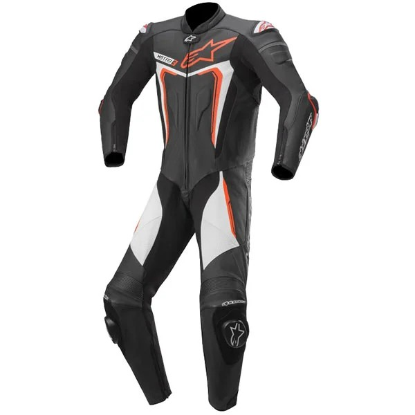 Alpinestars Motegi v3 1 Piece  Leather Suit 1  Black Red Fluo & White