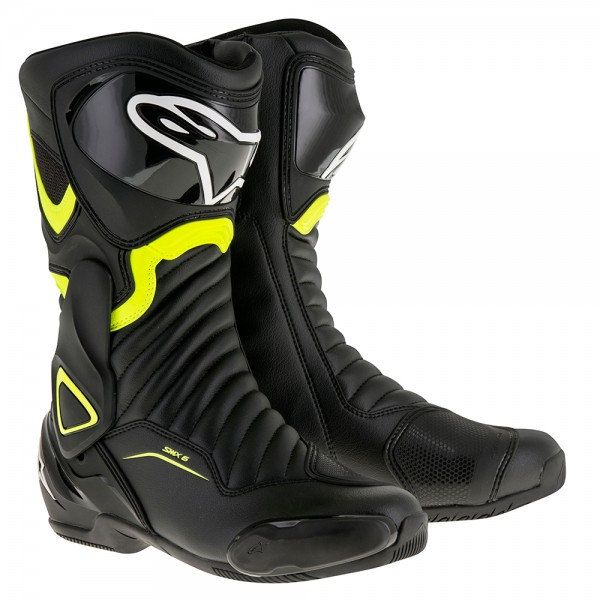 Alpinestars SMX 6 v2 Boot - Black & Yellow Fluo