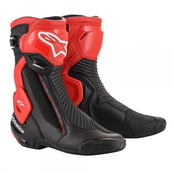 Alpinestars SMX Plus v2 Boots Black & Red