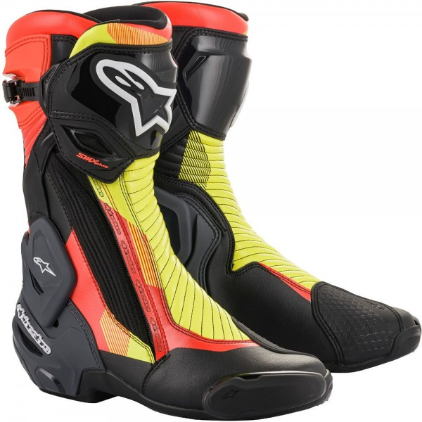 Alpinestars Smx Plus V2 Boots - Blk/Red/Flu/Gry