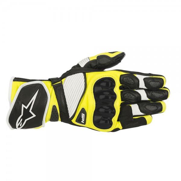 Alpinestars SP-1 v2 Gloves - Black/White/Yellow Fluo