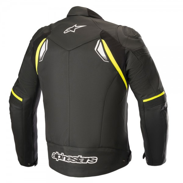 Alpinestars SP-1 v2 Leather Jacket - Black/Yellow Fluo