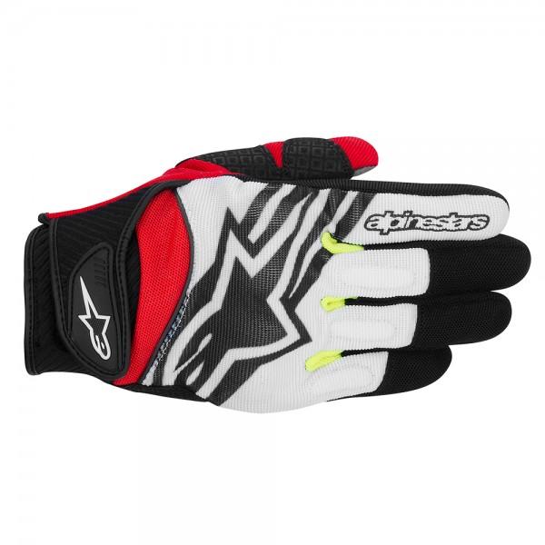 Alpinestars Spartan Gloves Black White Yellow & Red