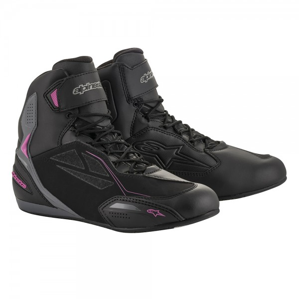 Alpinestars Stella Faster 3 Drystar Shoes Black Dark Grey & Fuchsia
