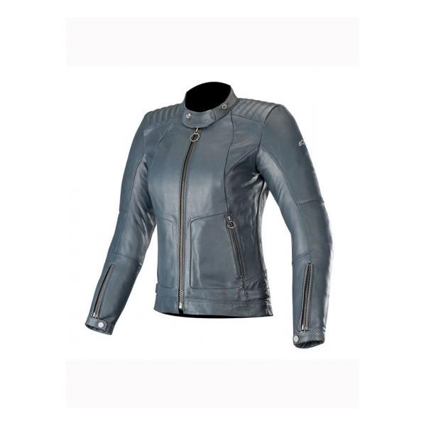 Alpinestars Stella Gal Leather Jacket - Mood Indigo