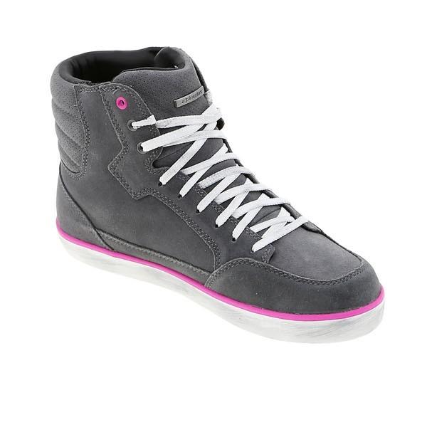 Alpinestars Stella J-6 Waterproof Riding Shoes Light Grey Fuchsia
