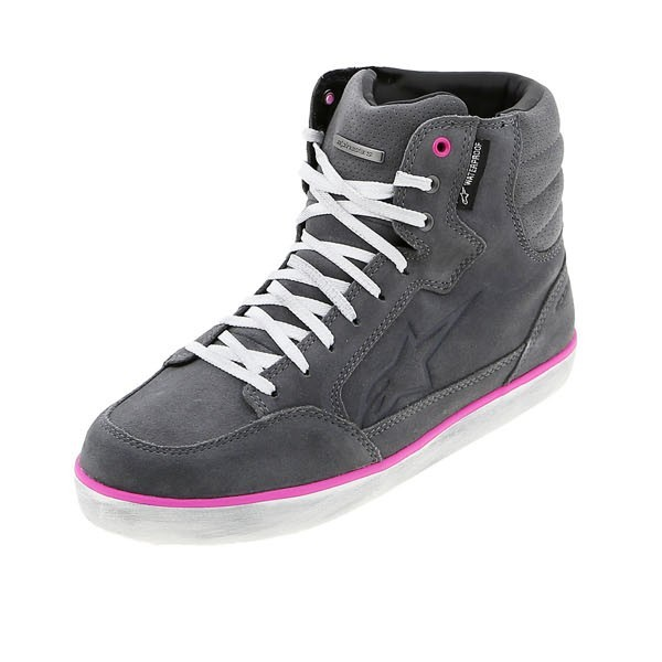 Alpinestars Stella J-6 Waterproof Riding Shoes Light Grey Fuchsia