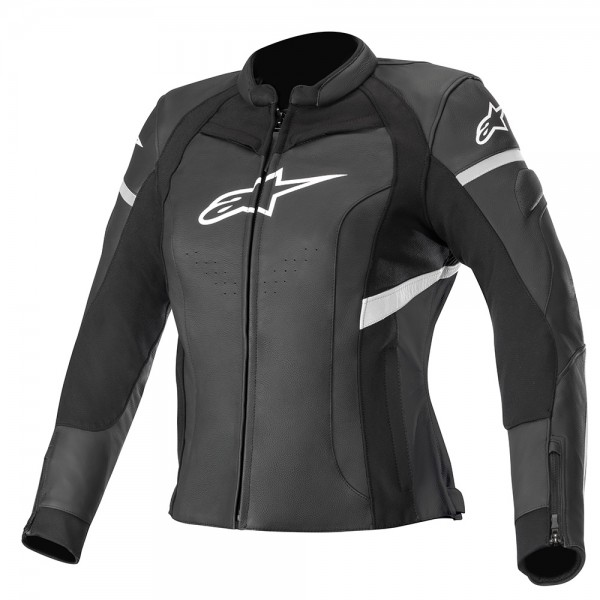 Alpinestars Stella Kira Leather Jacket Black & White