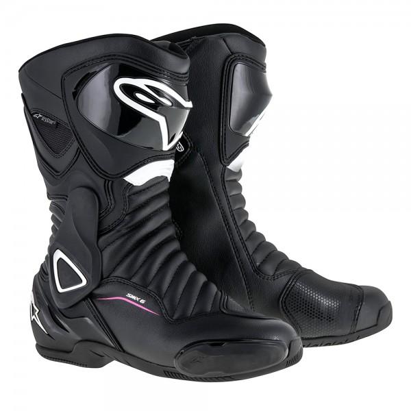 Alpinestars Stella SMX 6 v2 Boot Drystar Black White & Fuchsia