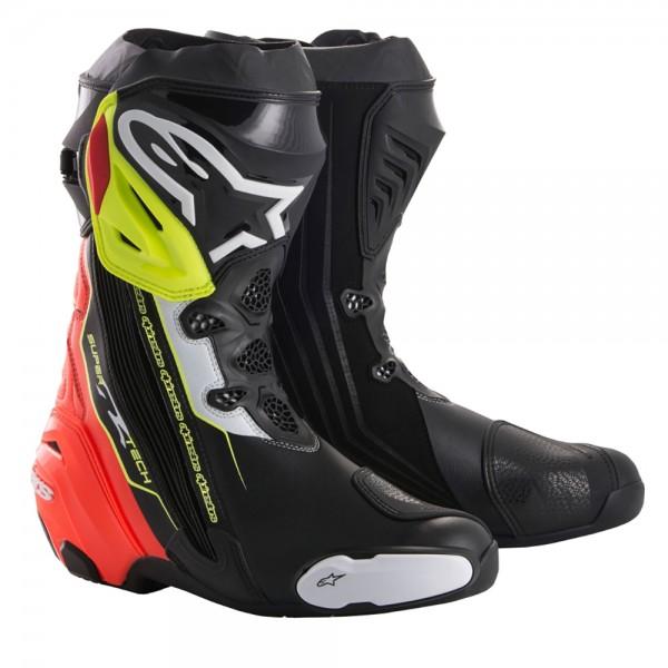 Alpinestars Supertech R Boot Black Red & Yellow Fluo