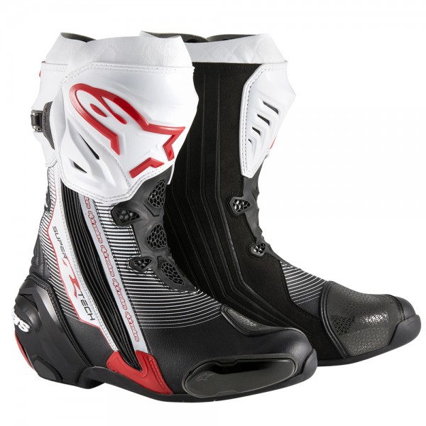 Alpinestars Supertech R Boots Black/White/Red