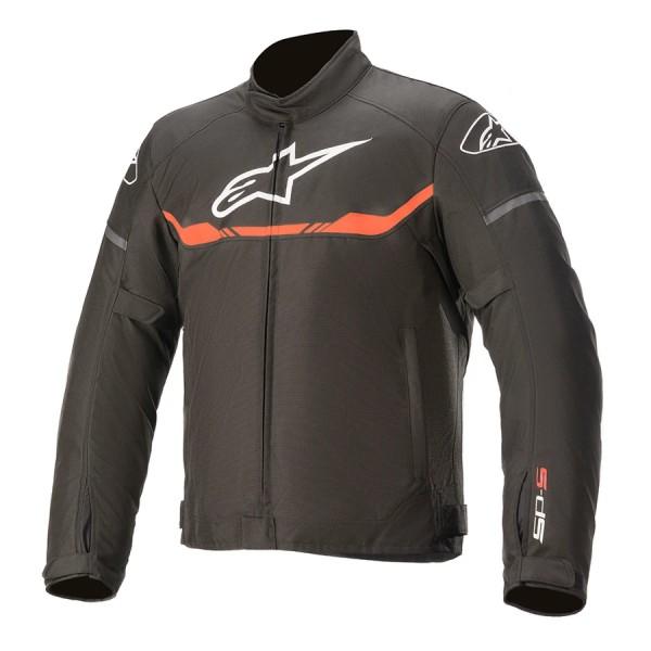 Alpinestars T-SPS Waterproof Jacket - Black/Red Fluo