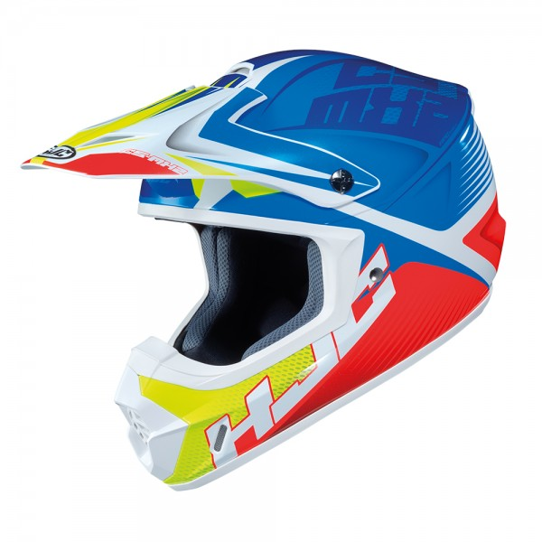 HJC CS-MX II Ellusion MC23 Blue White & Fluo