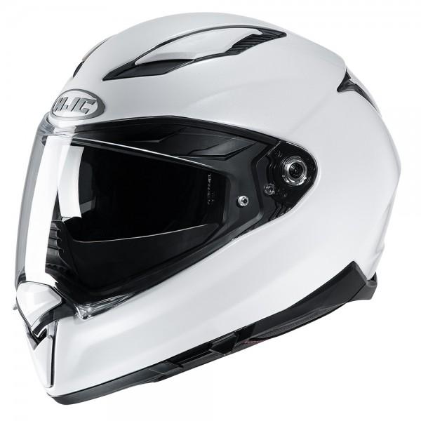 HJC F70 Pearl White