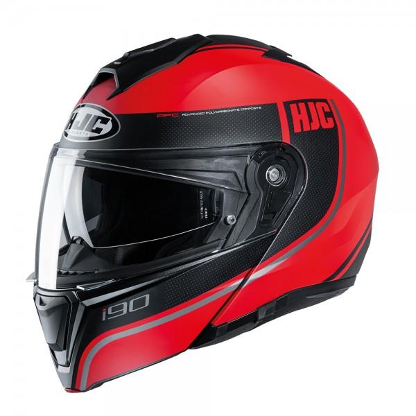 HJC I90 Davan MC1SF Red