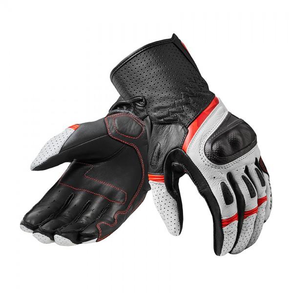 Gloves Chevron 3 White-Red