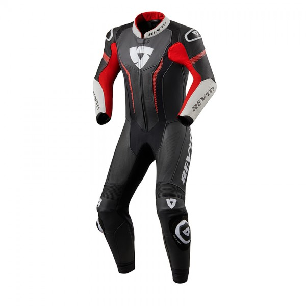 One Piece Suit Argon Black-Neon Red