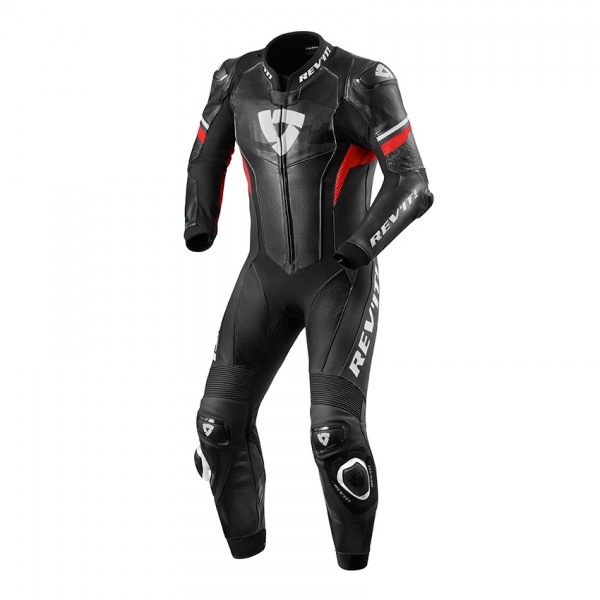 One Piece Suit Hyperspeed Black-Neon Red