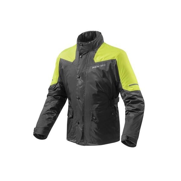 Revit Rain Jacket Nitric 2 H2O Black-Neon Yellow